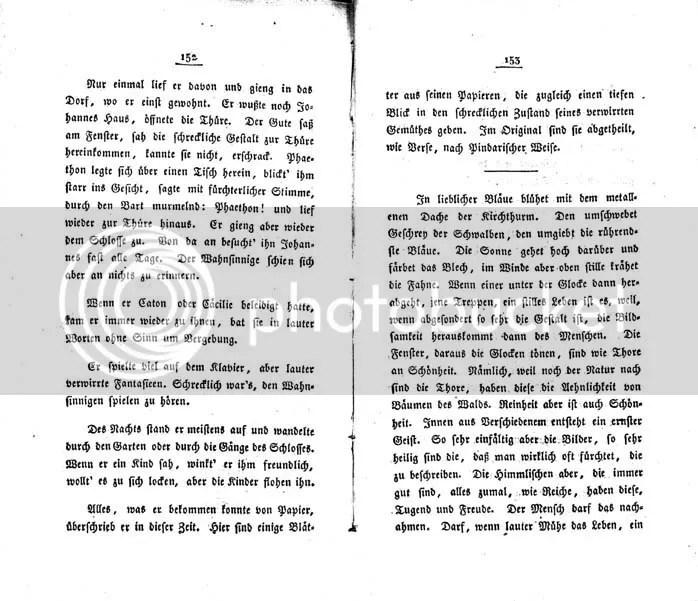Hölderlin, F.W. Waiblinger, Phaëton 1823, Seite 153