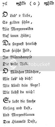 Goethe, Mayfest, 1775, Ausschnitt