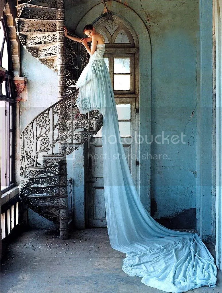 Tim Walker, Stairway featuring Lily Cole, ca. 2011