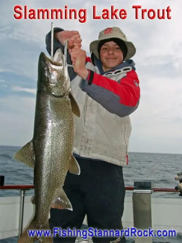 BrendenSlammingLakeTrout Trophy Red Fin Lake Trout on Light Tackle