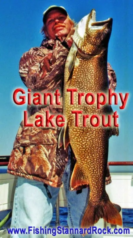 GiantLakeTroutLarry Trophy Red Fin Lake Trout on Light Tackle
