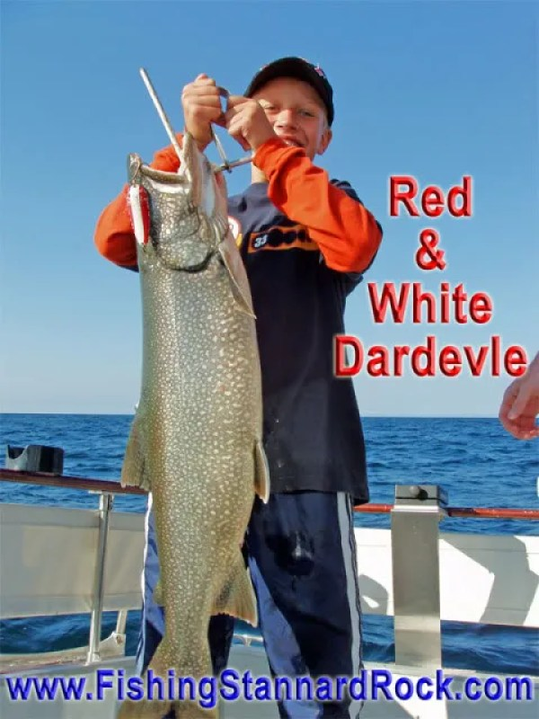 RedWhitedardevle Trophy Red Fin Lake Trout on Light Tackle