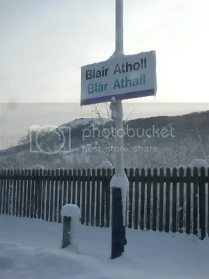 Blair Atholl - icy sign
