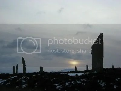 Orkney - Standing Stones of Stennes in Snow