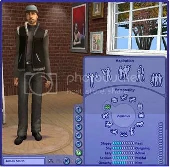 Sims 2 screenshot - personality creator