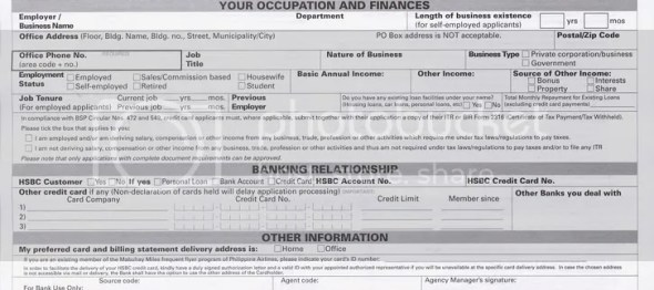 Hsbc form more bank hsbc business credit card application form gallery card design and reheart Image collections