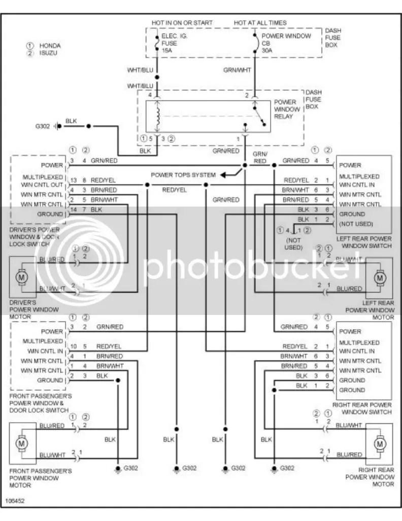 1998IsuzuRodeoPowerWindowDiagram 1?resize\=665%2C860 1997 isuzu rodeo electrical diagram wiring diagrams 1997 isuzu rodeo fuse box diagram at soozxer.org
