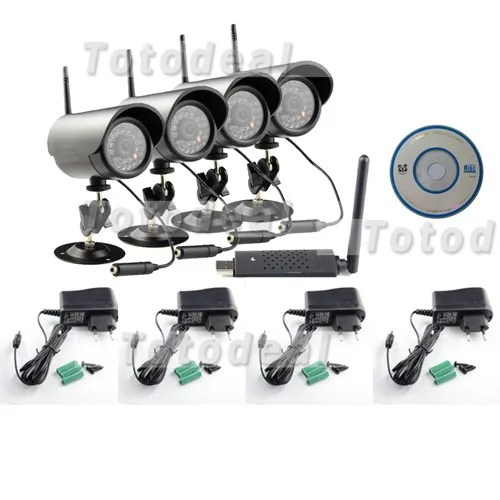 Wireless 4ch Quad Dvr Security System Manual
