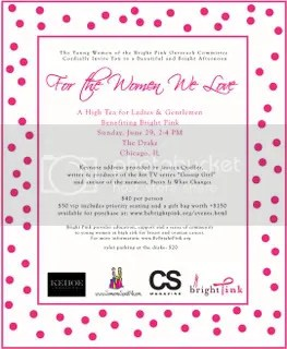 Be Bright Pink Tea Invite