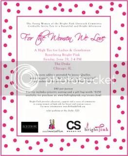 Be Bright Pink Tea Invite