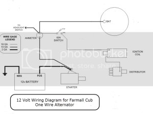 1 Wire Alternator  Farmall Cub