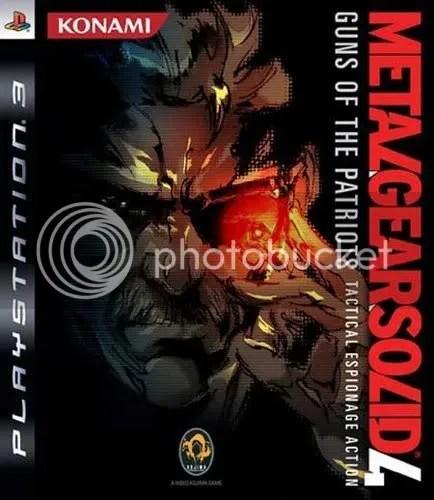 Capa da versão européia de Metal Gear Solid 4