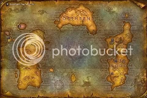 veja onde fica o novo continente, Northrend.