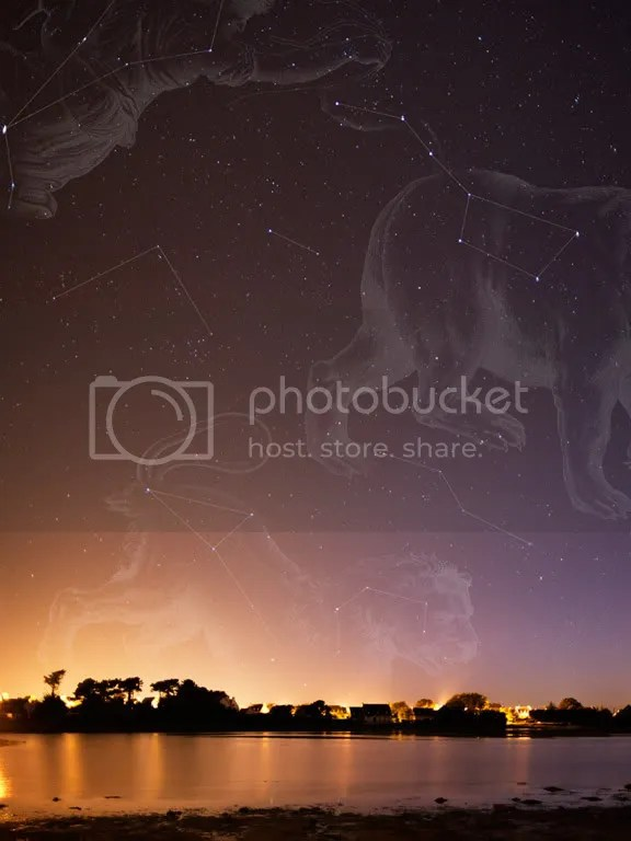 Constellations and Illustrations Overlaid