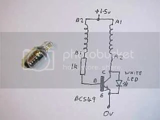 Joule Thief - http://www.emanator.demon.co.uk/bigclive/joule.htm