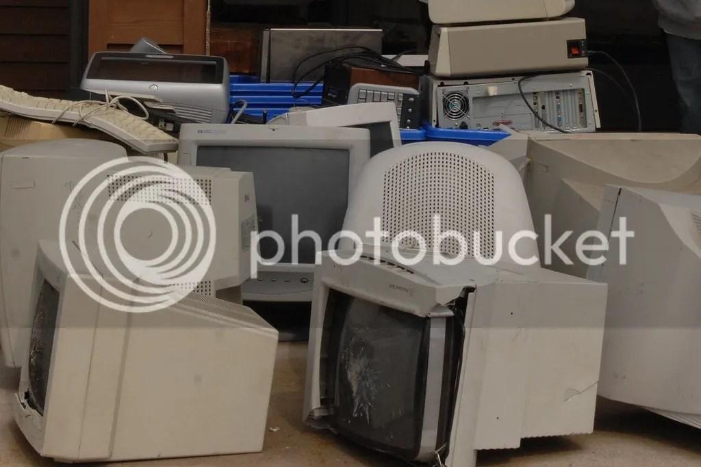 e-waste closeup