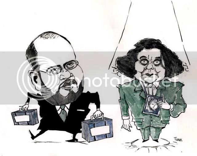 Caricatura de El FUnzi, publicada en Performance 86