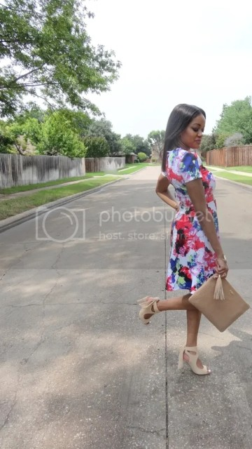 Dallas fashion blogger, fashion blogger, black fashion blogger, dallas blogger, milly, milly designer, milly scuba dress, milly scuba, zara ribbon sandals, zara, druzy bracelet, druzy, sole society, x ring, arm candy, white mani, detroit blogger