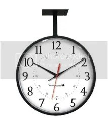 Black Hanging Clock IW-2