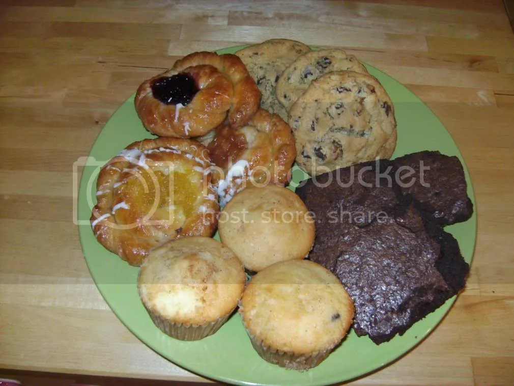 Chocolate Chip Cookies, Brownies, Chocolate Chip Muffins and Danish Pictures, Images and Photos
