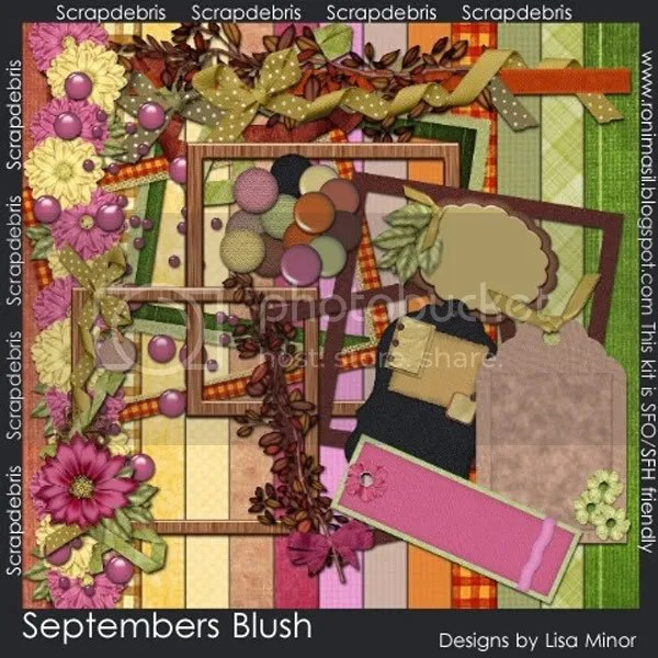 Septembers Blush by Lisa Minor of Scrapdebris