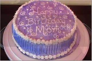 Trudis Purple Birthday Cake