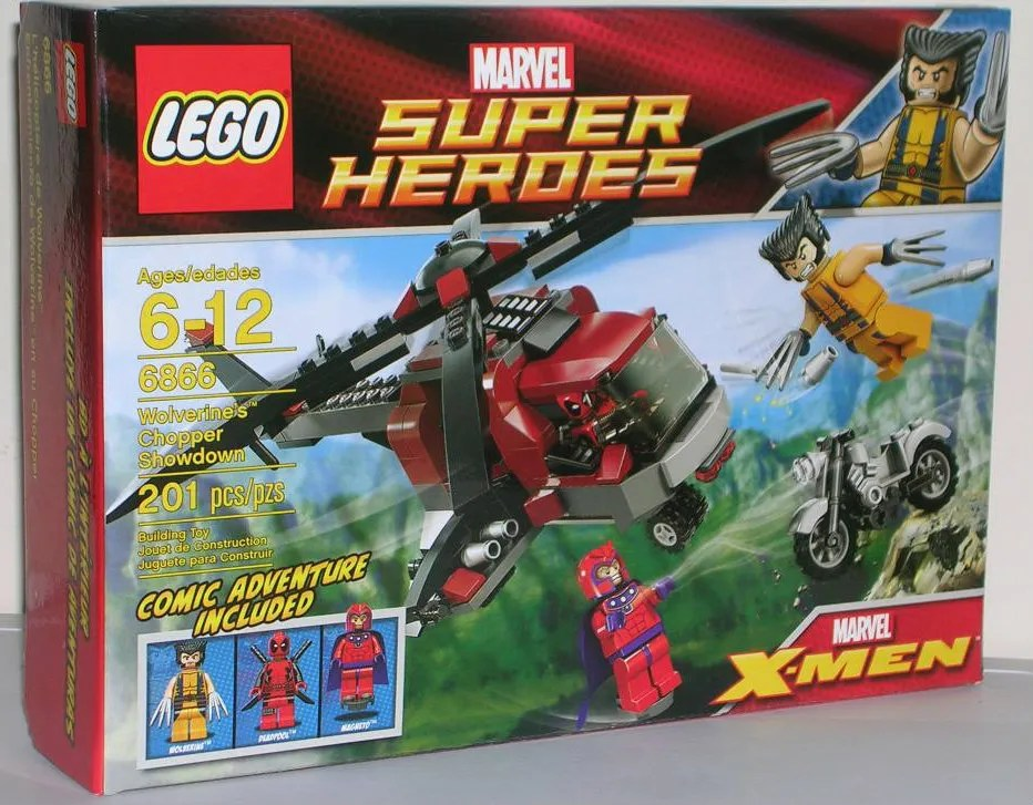 Marvel Super Heroes Wolverines Chopper Showdown 6866 By Lego