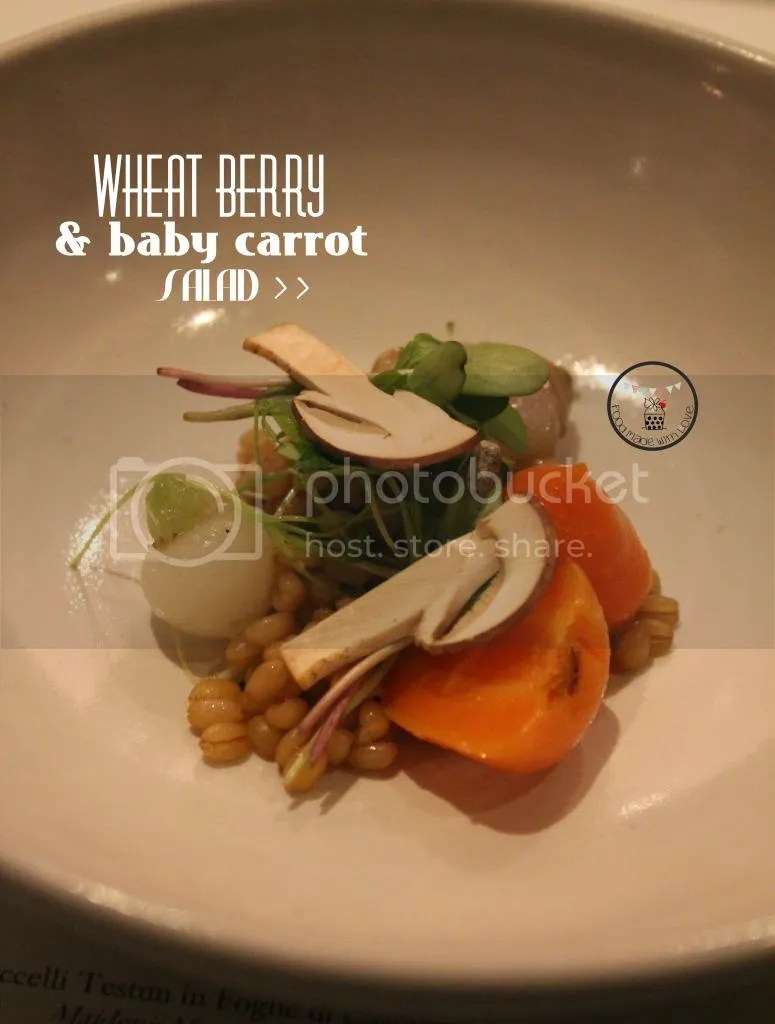 Wheat berry and baby carrot salad