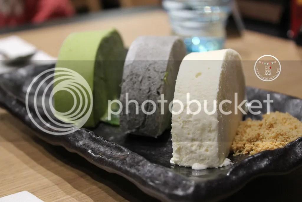 Trio of ice-cream