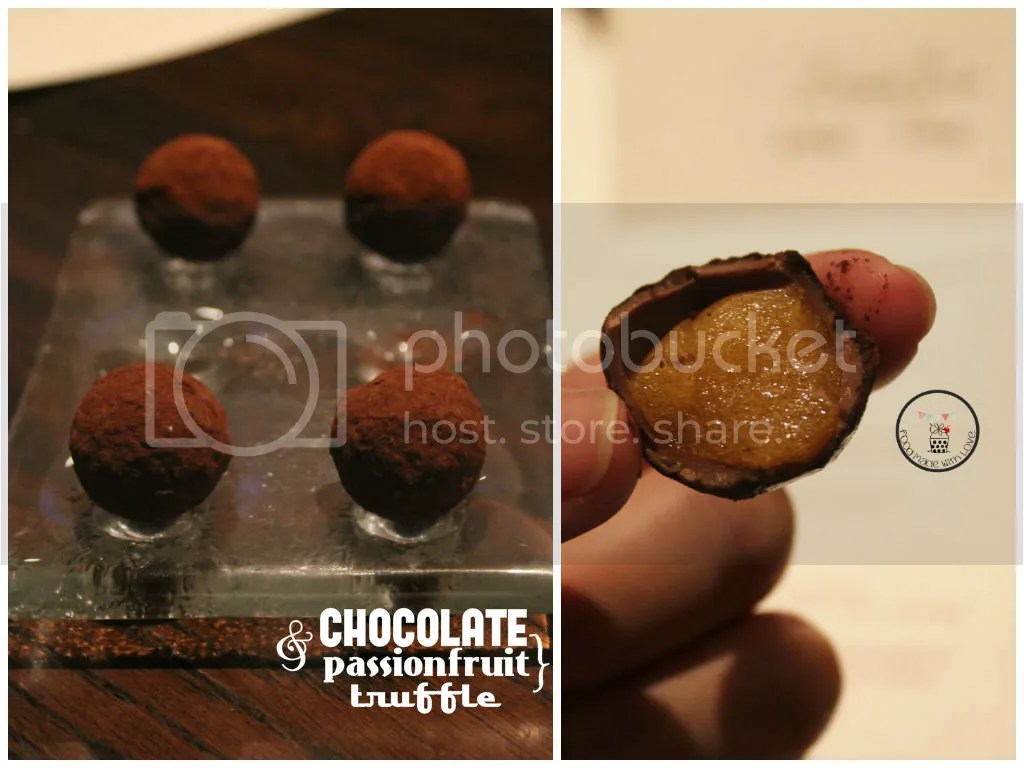 Chocolate and passionfruit truffle