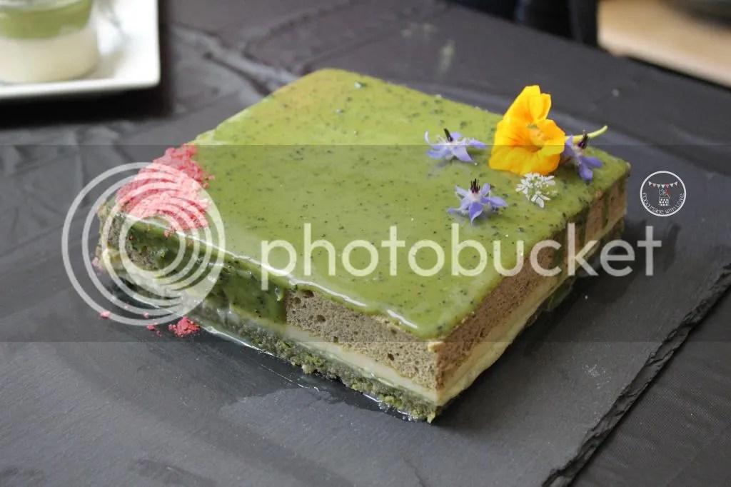 Matcha opera cake