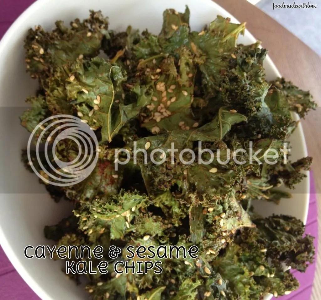 Cayenne & Sesame kale chips