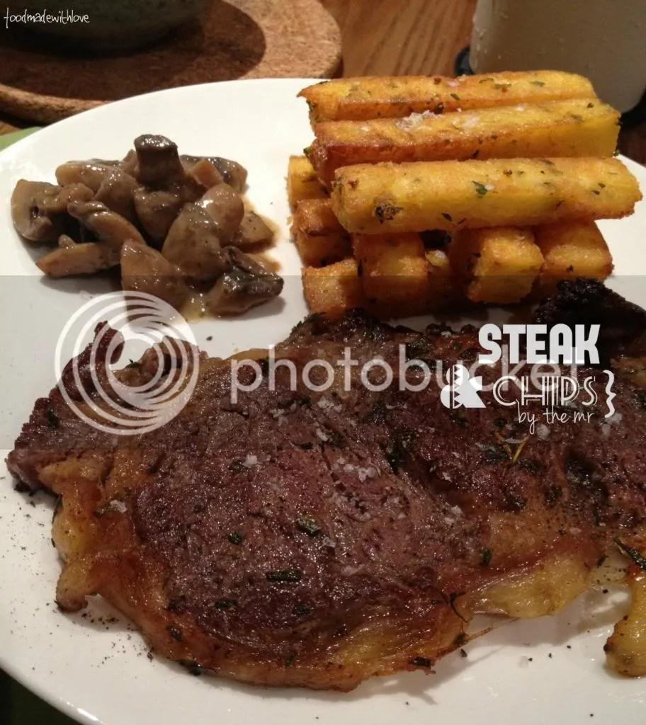 The mr's version of steak & chips