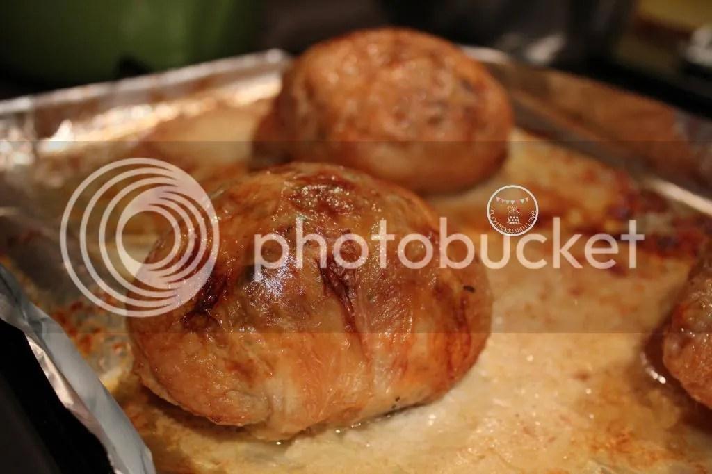 Baked till golden brown