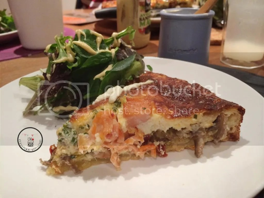 Quiche with a side of salad