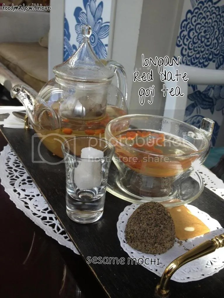 Longan, red date and goji tea