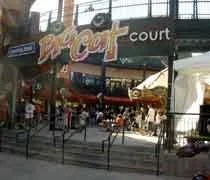 The entrance to the Big Cat Food Court at Comerica Park