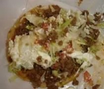 The beef tostada from El Oasis inside Tonys Party Store in Lansing.