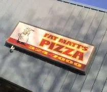 Fat Matts Pizza in the Trowbridge Plaza in East Lansing.