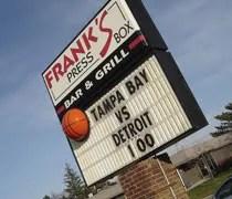 Franks Press Box on Saginaw Highway in Lansing.