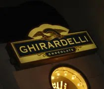 Ghiradelli Chocolate in downtown Chicago on the Magnificent Mile