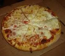 A 10 cheese pizza from Izzos Pub & Pizzeria