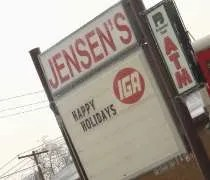 Jensens IGA just off the main highway in Clifton, IL
