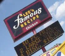 Lees Famous Recipe Chicken on Westnedge in Kalamazoo.