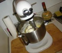 The best Christmas present ever...this year!  My new Kitchen Aid stand mixer.