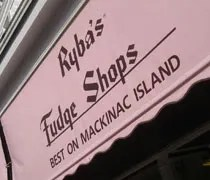 Rybas Fudge Shops on Mackinac Island.