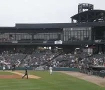 The seating area at Silver Cross Field in Joliet. IL