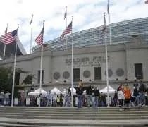 The entrance to Soldier Field, home of the Chicago Bears, in Chicago