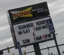 Sonic Drive In on Main Street in Birch Run.
