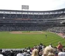 The view from our outfield seats at US Cellular Field in Chicago.